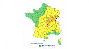 Alerte m t o france 23 ao t 9 d partements sous - Meteo belfort demain ...
