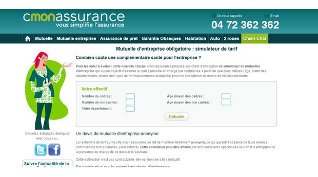 Tpe pme un simulateur pour valuer les co ts des mutuelles entreprises ob - Questionnaire medical assurance emprunteur ...