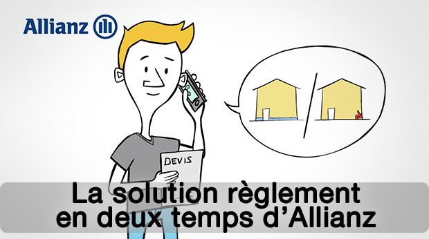 La solution règlement en deux temps d'Allianz