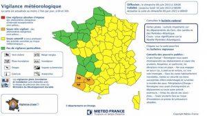 Météo France : Trois départements placés en alerte Pluie-Inondation