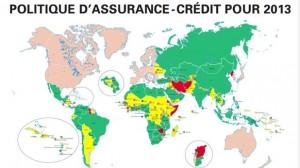 Assurance entreprises : L'assurance-crédit refusée dans une quinzaine de pays