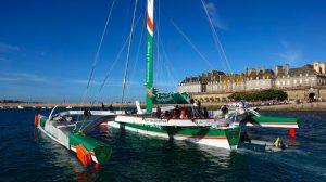 Sponsoring : Le géant Groupama 3 mené par Franck Cammas quitte Saint-Malo