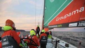 Sponsoring : Franck Cammas sur Groupama 4, leader de la Volvo race à 2 étapes de la fin