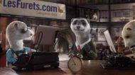 Publicité / Assurance en ligne : Les Furets à l'heure d'hiver