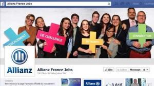 Allianz récompensé pour sa page recrutement sur Facebook