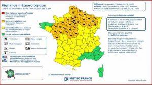 Alerte Météo France – 27 juillet : 35 départements sous vigilance orange pour cause d'orages