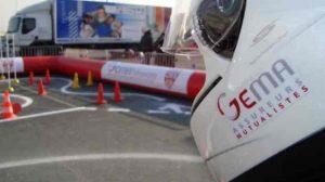 Prévention / Deux roues : La piste d'éducation routière CRS GEMA Prévention sur le Tour de France