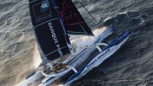 Trophée Jules Vernes : Loic Peyron fait tomber le record de Franck Cammas sur Groupama 3