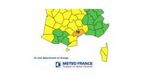 Météo France / Mardi 1er novembre : L'Hérault placé en alerte orange pour fortes pluies