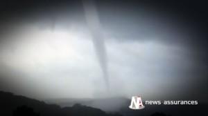 Intempéries : une colonne d'eau de mer et de fortes pluies secouent la Corse