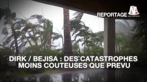 Tempête Dirk / Cyclone Bejisa : Bilans chiffrés des deux catastrophes
