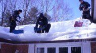 Le toit de ma maison s'est effondré à cause de la neige, que faire?